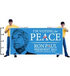 """4ft x 8ft Vinyl """"Peace"""" Banner"""