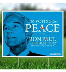 Vote for Peace Yard Sign
